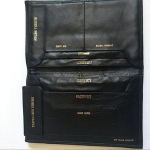 Vintage Leather Travel Wallet